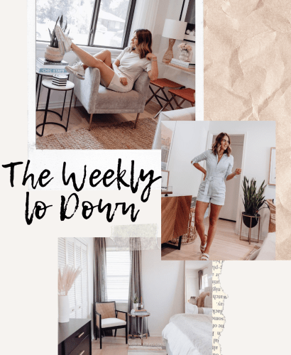 Sharing this week's version of The Weekly Lo Down including my favorite internet finds, weekend deals, discount codes, & more.