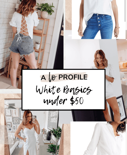 From white shoes to tops to dresses, I rounded up all of the best white basics under $50 in this blog post. Now everyone can wear this stunning color!
