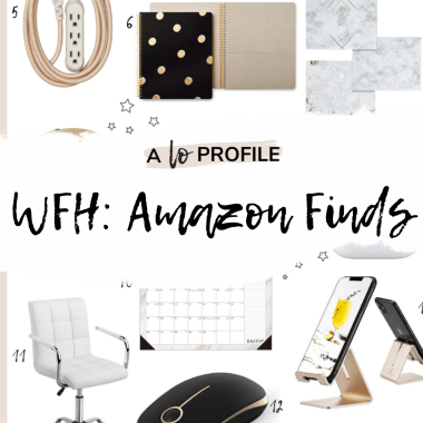 Sharing a roundup of my WFH work from home Amazon finds featuring tons of essentials for a productive at home set up when working from home.