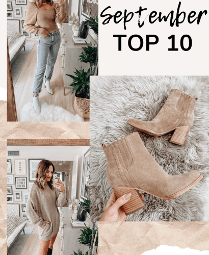 Your favorite fall fashion items from the month of September rounded up in one post! Shop all of these fall staples before they sell out.