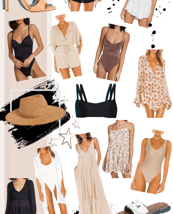 Sharing an easy to shop collage featuring resort wear I'm loving with everything from swimsuits to cover up to beach dresses & accessories.