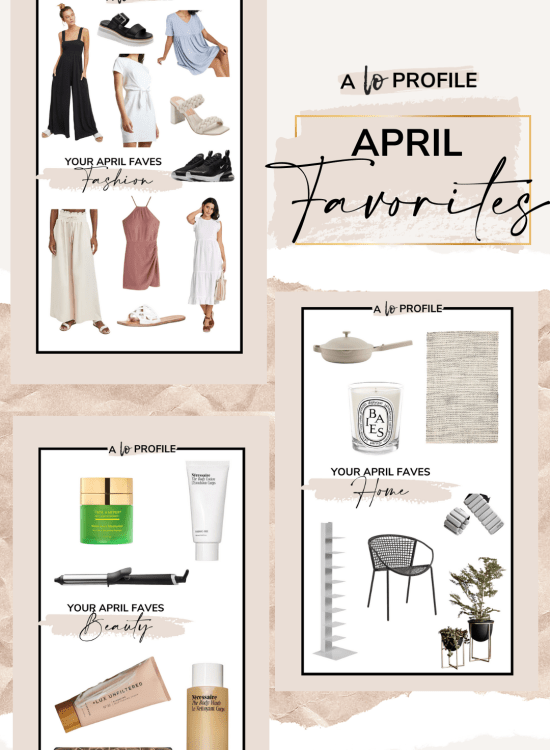 Sharing a roundup of your April favorites in each category featuring the items you all clicked on & purchased the most that I shared last month.