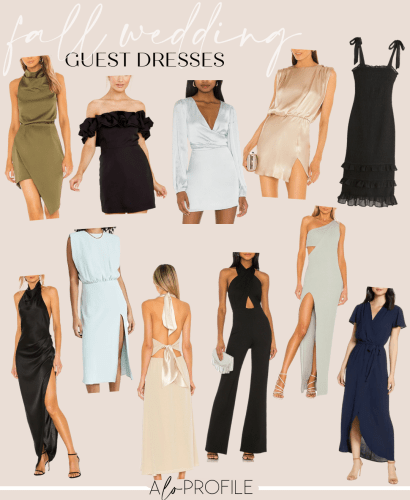 Sharing a roundup of pre fall wedding guest dresses in every price range & tons of options that come in a variety of different colors.