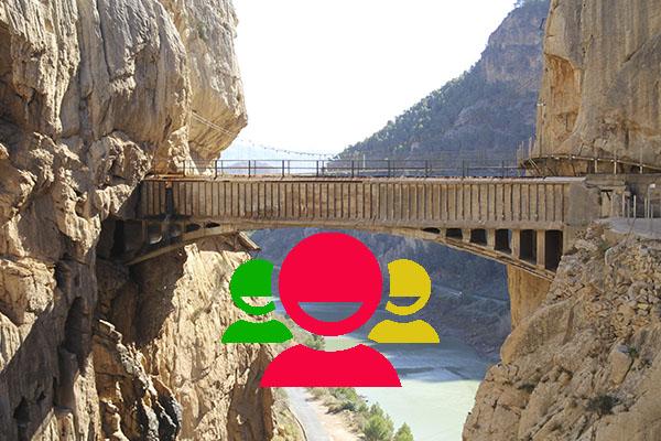 Visitas guiadas para grupos senderistas y excursionistas al Caminito del Rey