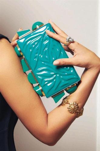 Dress: Natasha Zinko Bag: Tonya Hawkes Bracelet: What Goes Around Comes Around Ring: Pomellato