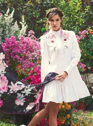DRESS: Alexander McQueen - Thuraya Mall, Al Ostoura Salhiya Complex SCARF: Leonard - Al Ostoura Thuraya Mall