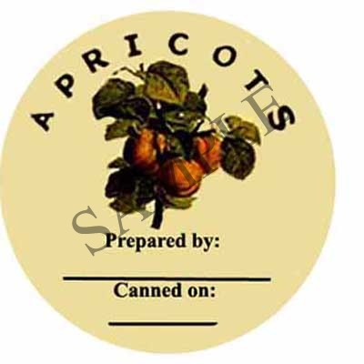 Apricots Prepared By Round Canning Label #L140