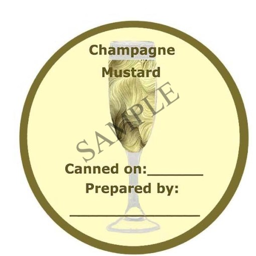 Champagne Mustard Canning Label #L161