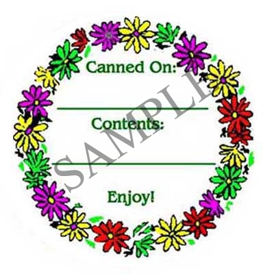 Flowers Round Canning Label #L230