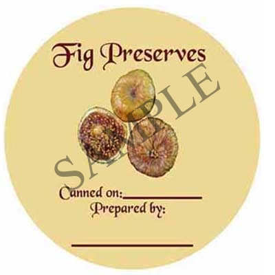 Fig Preserves Round Canning Label #L239