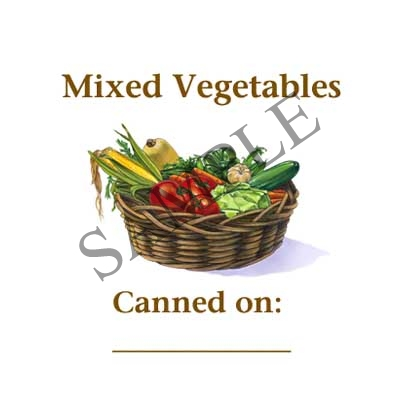 Mixed Vegetables Canning Label #L270