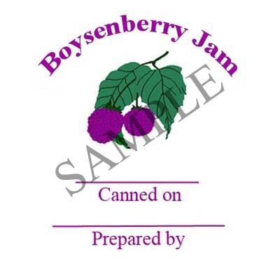 Boysenberry Jam Round Canning Label #L300