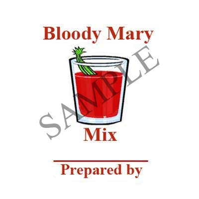 Bloody Mary Mix Round Canning Label #L305