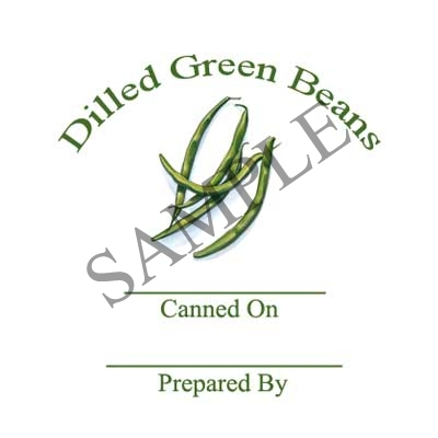 Dilled Green Beans Canning Label #L333
