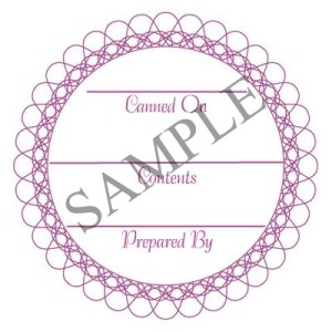 Raspberry Scroll Round Canning Label #L344