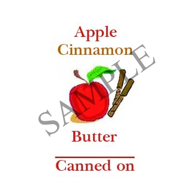Apple Cinnamon Butter Round Canning Label #L358