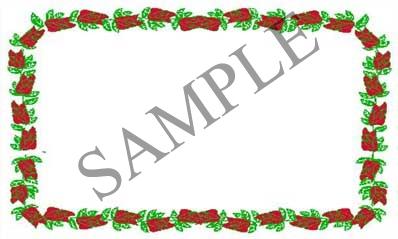 Rose Border Blank Rectangle Canning Label #RB120