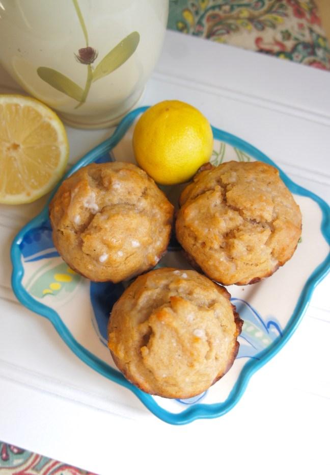 Lemon Honey Olive Oil Muffins