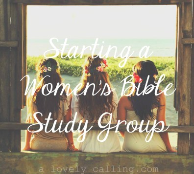 Starting a Women's Bible Study Group