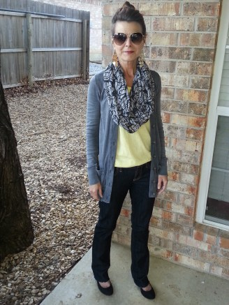 What I Wore - Day 3 w/cardigan