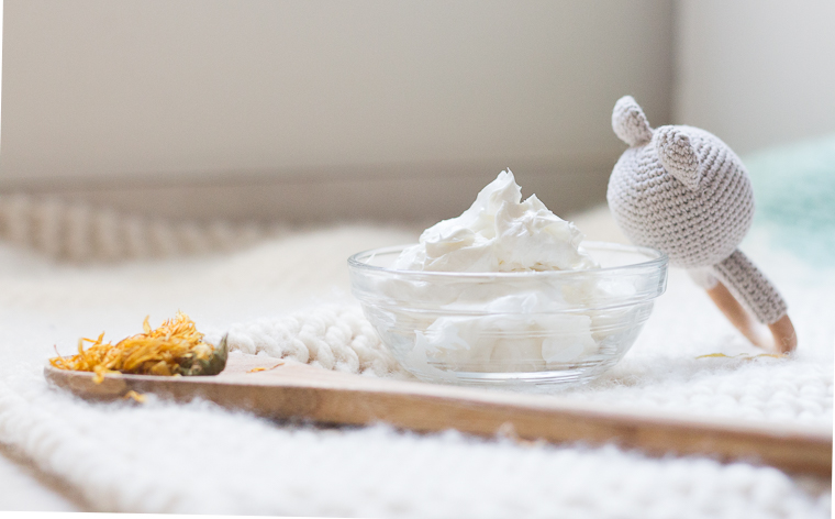 whipped baby body butter with lavender and calendula