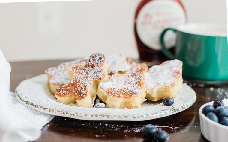 sour cream pancakes, cookie cutter pancakes