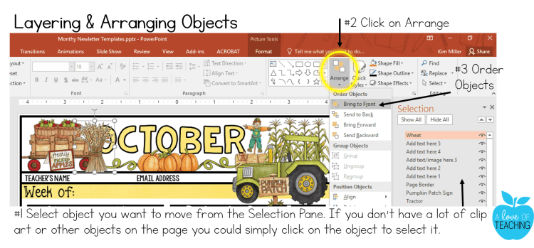 PowerPoint: Layering and Arranging Objects