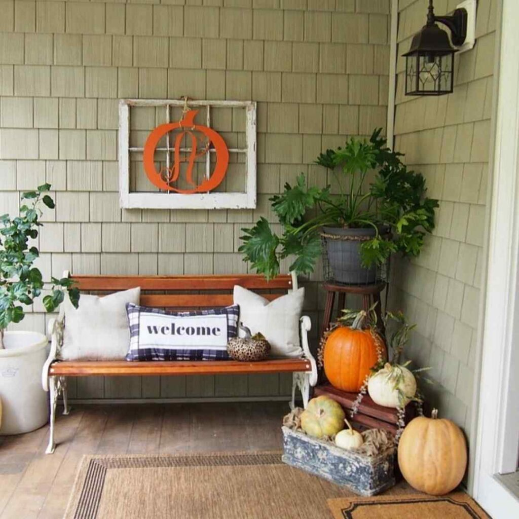 Gathered in the Kitchen - Easy Outdoor Fall Porch Decor