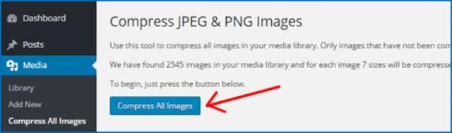 Cách khắc phục ảnh kích thướng lớn trong WordPress