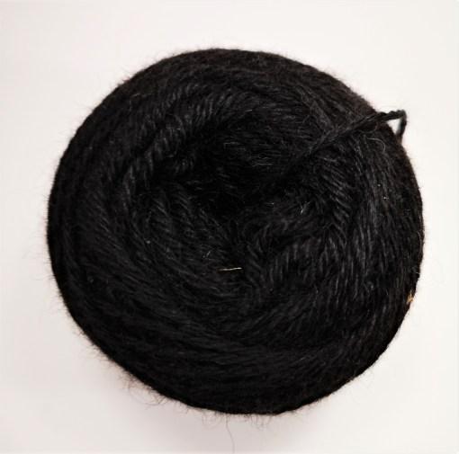 Alpakawolle schwarz