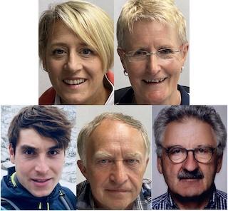 Unser Team in der Geschäftsstelle (o.v.l.) Eva Angermann-Lohschmidt, Hermine Sukienik, (u.v.l.) Felix Saller, Franz Steiner, Bernhard pappenberger