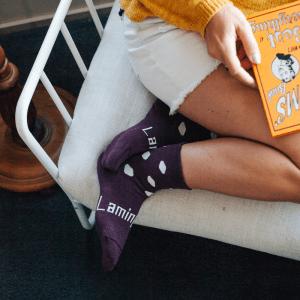 chaussettes_laine_mérinos_femme_pourpre