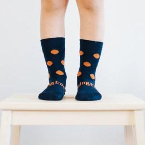 chaussettes en laine bleu enfant