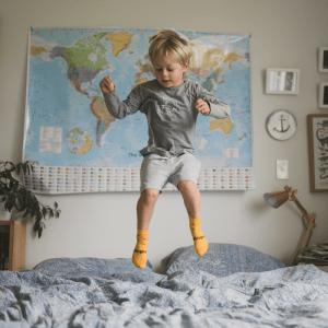 chaussettes en mérinos jaunes