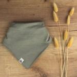 bavoir foulard vert d'eau bébé merinos 2021