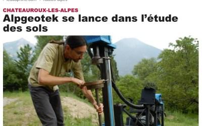 [Presse] Alpgeotek dans le Dauphiné