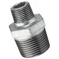 1″X1/2″  BSPT Male Hex Nipple Galv | FTM