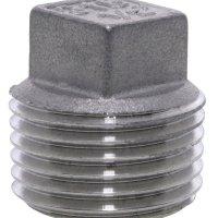 3/4 BSPT M Square Head Plug 150Lb 316SS