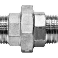 1-1/2 BSPT Male X Male Flat Union Ptfe Seal 150Lb 316SS
