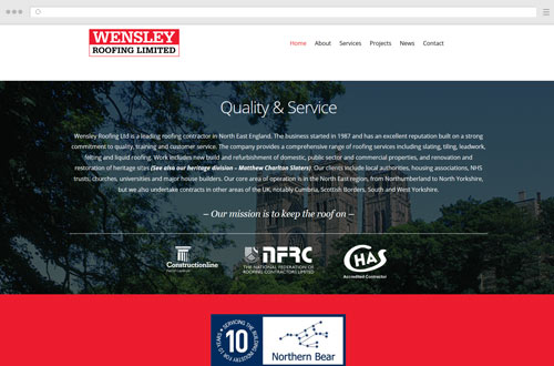 Wensley Roofing Website