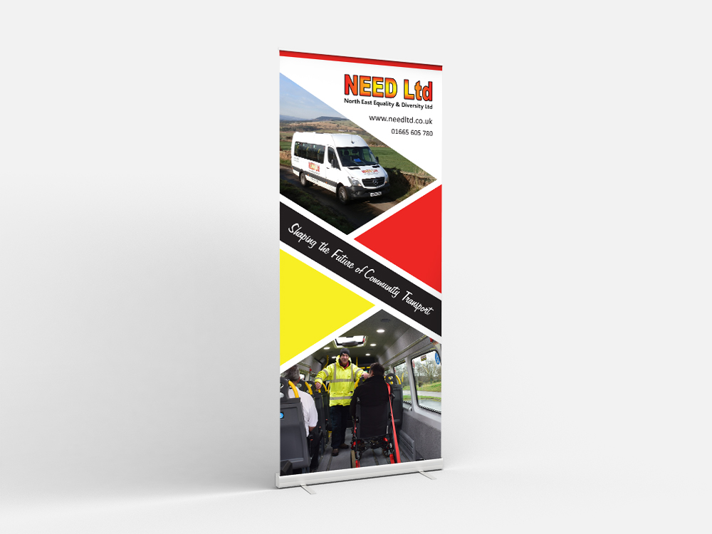 NEED Ltd Charity roller banner design