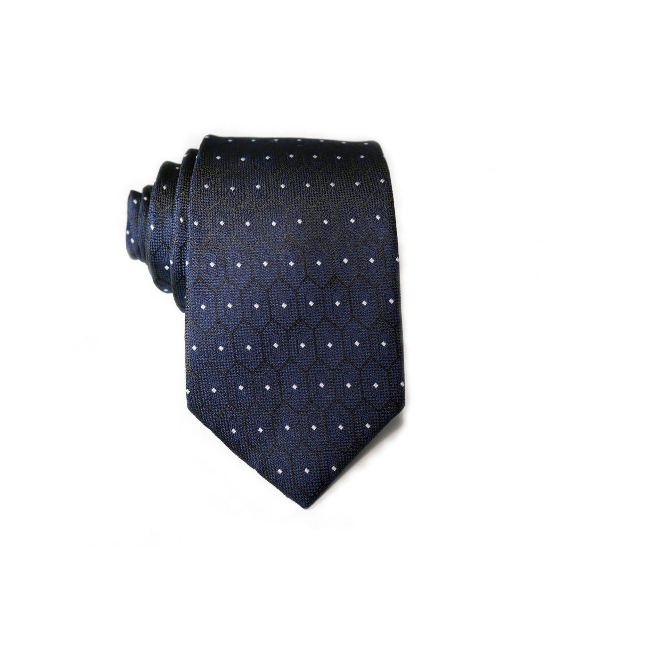 40bd6570f397 Navy Blue Polka Dots Tie – ALPHAB
