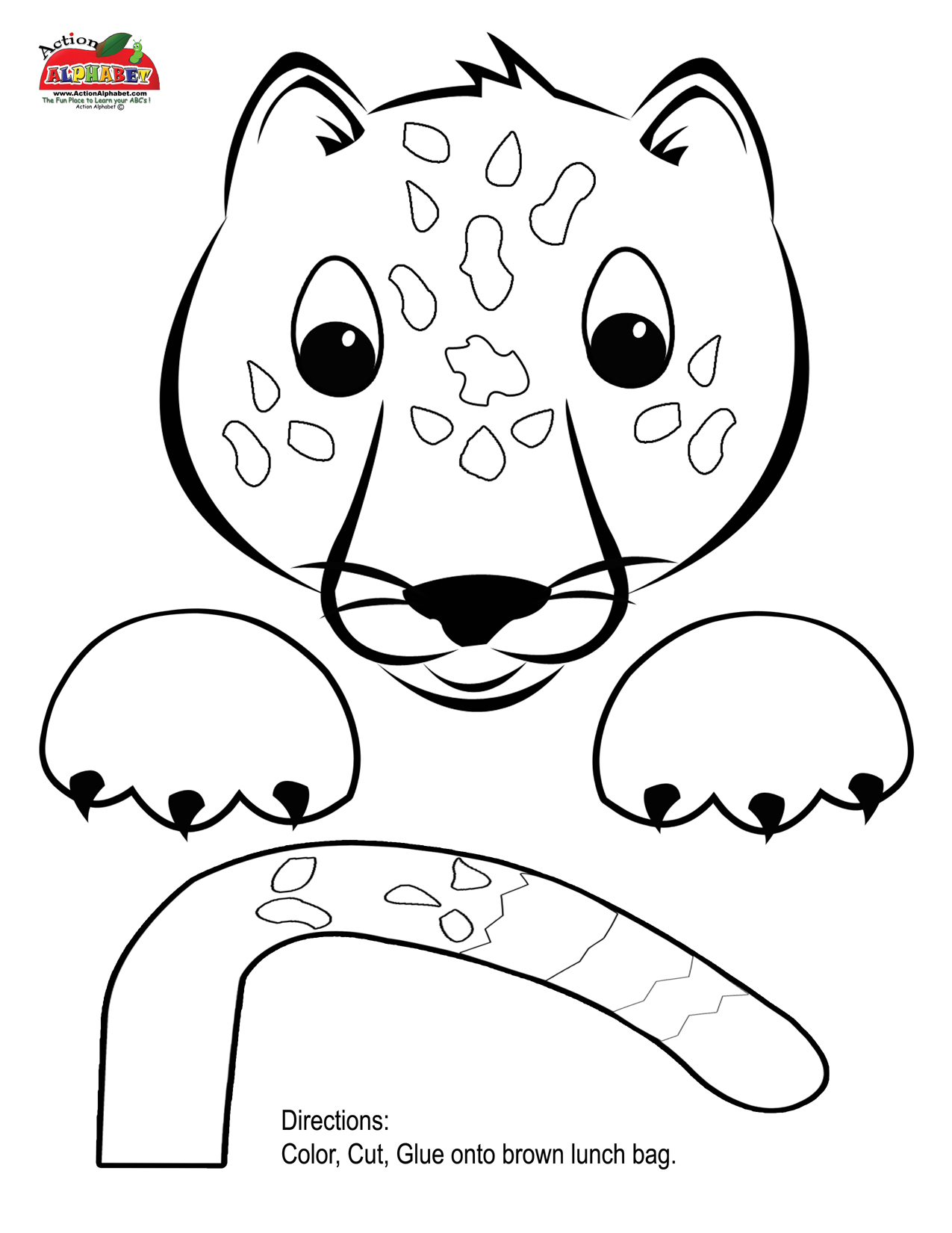 Jaguar Pattern Use The Printable Outline For Crafts