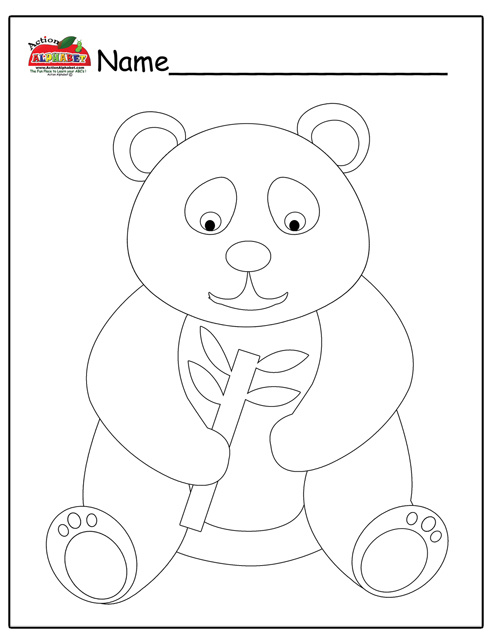 puzzle bear panda colouring pages