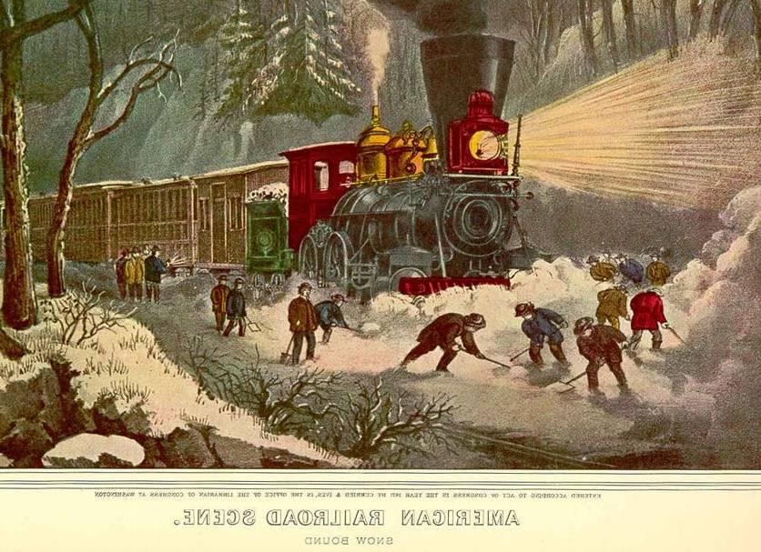Trains On US Stamps Currier Amp Ives Prints