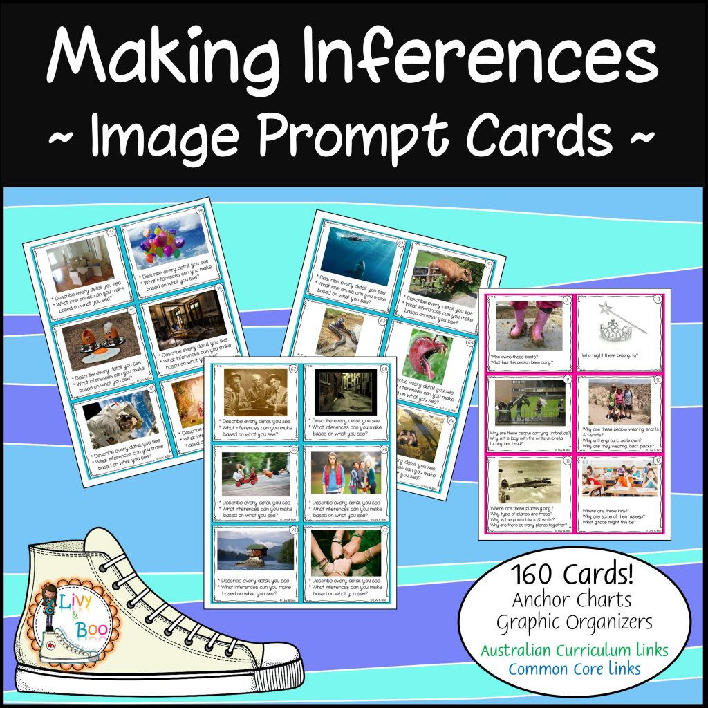 Making Inferences Using Photos 160 Image Prompt Cards