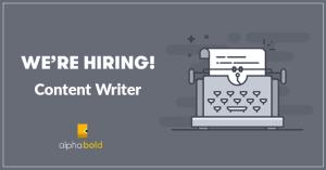content writer job alphabold
