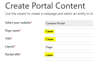Add Content in Microsoft Dynamics Portal