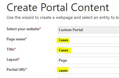 Add Content in Microsoft Dynamics Portal