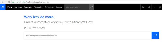 Microsoft flow screen